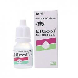 Dung dịch nhỏ mắt mũi Efticol, Chai 10ml