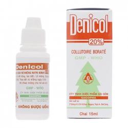 Dung dịch rơ miệng Denicol 20%