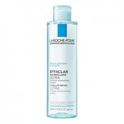 Nước tẩy trang làm sạch sâu và kiểm soát bã nhờn cho da dầu nhạy cảm La Roche-Posay Micellar Water Ultra Oily Skin 200ml