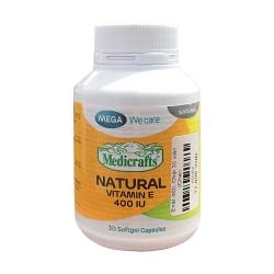 Mega Natural Vitamin E 400IU, Chai 30 viên