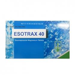 Thuốc tiêu hóa Esotrax 40mg, Hộp 30 viên