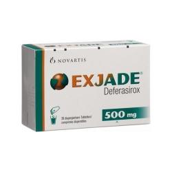 Exjade 500 - Deferasirox 500mg, Hộp 28 viên