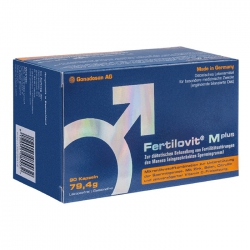 Tpbvsk tăng chất lượng tinh trùng Fertilovit Mplus, Hộp 60 viên