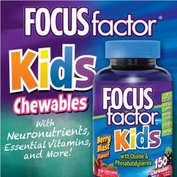 Focus Factor Kids giúp trẻtăng cường trí nhớ, Hộp 150 viên