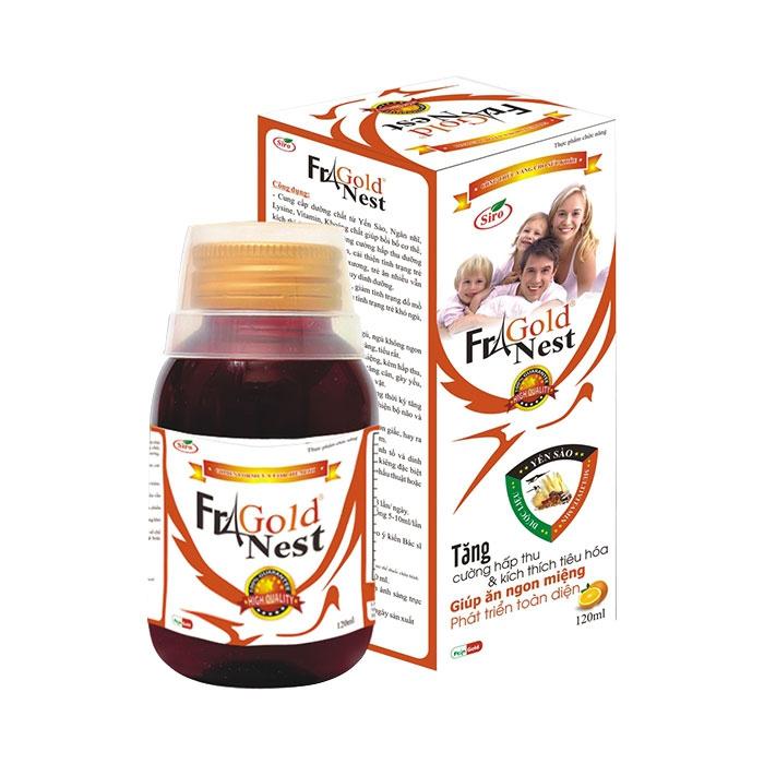 Tpbvsk cho trẻ biếng ăn FraGold Nest, Lọ 120ml