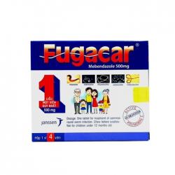 Thuốc điều trị nhiễm giun Fugacar 500mg, Hộp 4 viên
