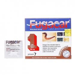 Thuốc trị nhiễm giun vị sô cô la Fugacar 500mg, Hộp 1 viên
