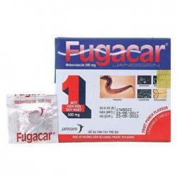 Thuốc tẩy giun vị trái cây Fugacar 500mg, Hộp 01 viên