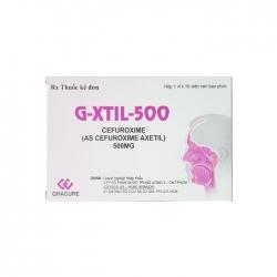 Thuốc kháng sinh G-Xtil-500, Hộp 10 viên