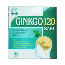 Ginkgo 120mg SAFI, Hộp 10 vỉ x 10 viên