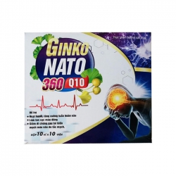 Tpbvsk bổ não Ginko Nato With 360mg CoQ10, Hộp 100 viên