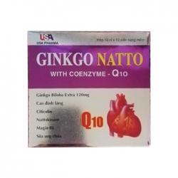 Tpbvsk bổ não USA Pharma Ginkgo Natto With Coenzyme CoQ10, Hộp 100 viên