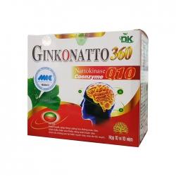 Tpbvsk bổ não Ginkonatto 360mg CoQ10 5mg, Hộp 100 viên