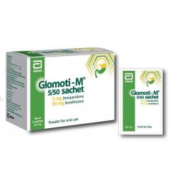 Thuốc tiêu hóa Abbott Glomoti M 5mg, Hộp 12 gói