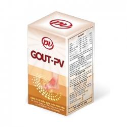 Gout PV giải pháp cho bệnh Gout | Dược phúc vinh | Hộp 60 viên