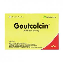Goutcolcin 0,6mg Agimexpharm 10 vỉ x 10 viên