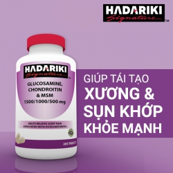 Hadariki Glucosamine 1500mg, Chondroitin 1000mg, MSM 500mg bổ khớp