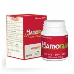Hamo Max giúp hạ mỡ máu, bền mạch, an tâm tuổi già, Hộp 30 viên