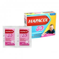 Thuốc  Hapacol 80mg DHG, Hộp 24 gói