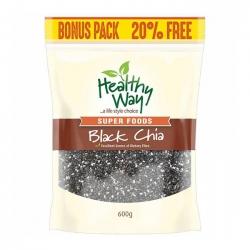 Hạt chia đen Healthy Way Black Chia 600g Bonus Pack