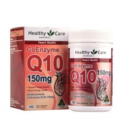 Healthy Care CoEnzyme Q10 150mg hỗ trợ sức khỏe tim mạch, bổ tim, Chai 100 viên
