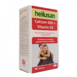 Tpbvsk bổ sung Heilusan Calcium 600 + Vitamin D3, Hộp 48 viên