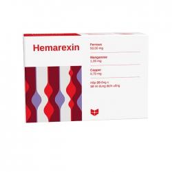 Thuốc bổ máu Stella Hemarexin, Hộp 20 ống