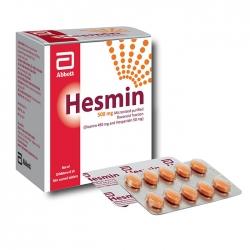 Thuốc suy tĩnh mạch Hesmin, Hộp 10 vỉ 10 viên