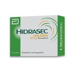 HIDRASEC 30mg Children điều trị tiêu chảy cấp tính ở trẻ sơ sinh, trẻ em