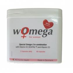 Hỗ trợ tim mạch nữ giới Dao Nordic Womega For Woman Hộp 60 viên