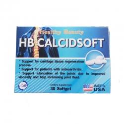 Hỗ trợ xương khớp HB Calcisoft Calcium/Vitamin D3, Hộp 3 vỉ x 10 viên