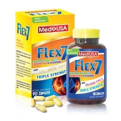 Hỗ trợ xương khớp Mediusa Flex 7 Glucosamine 1650mg Chondroitin 350mg, Hộp 90 viên