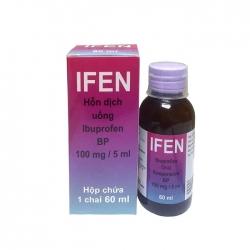 Hỗn hợp dung dịch uống Ifen Ibuprofen BP 100mg/5ml, Hộp 60ml