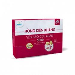 Tpbvsk Hồng Diện Khang yến sào Collagen, Hộp 2 lọ