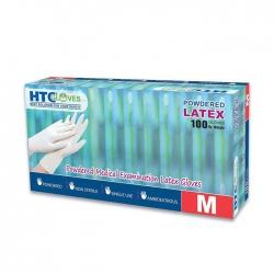 Găng tay y tế có bột HTC Gloves màu trắng, Hộp 100 cái
