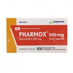 Thuốc kháng sinh Imexpharm Pharmox 500mg, Hộp 100 viên