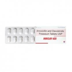 Thuốc kháng sinh Indclav 625, Hộp 20 viên