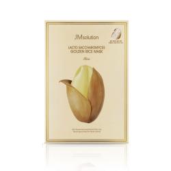 Mặt nạ tinh chất gạo JM Solution Lacto Saccharomyces Golden Rice Mask (Hộp 10 miếng 30ml)