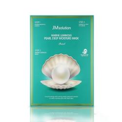 Mặt nạ ngọc trai dưỡng ẩm sâu Jm Solution Marine Luminous Pearl Deep Moisture Mask (Hộp 10 miếng 32ml)