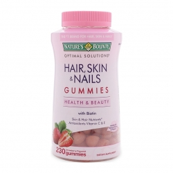 Kẹo dẻo Hair, Skin & Nails Gummies bổ sung  Biotin, Collagen, Alpha Lipic Acid & Calcium, Vitamin E và Vitamin C