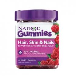 Kẹo dẻo làm đẹp da móng tóc Natrol Gummies Hair, Skin, Nails