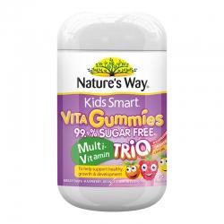 Kẹo dẻo Nature\'s Way Kids Smart Vita Gummies Sugar Free Multi-Vitamin Trio 75 viên
