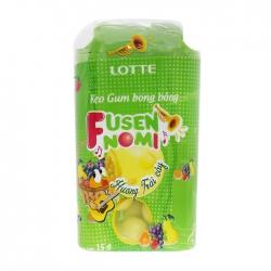 Kẹo gum Lotte Fusen Nomi trái cây 15g