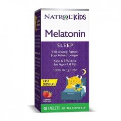 Kẹo ngậm giúp trẻ ngủ ngon Natrol Kids Melatonin Sleep vị dâu, Hộp 40 viên