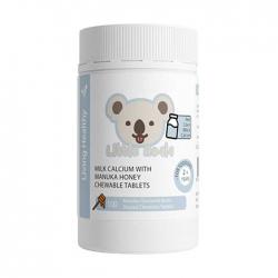 Kẹo Sữa Canxi Mật Living Healthy Milk Calcium Manuka Honey, Chai 100 viên