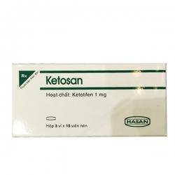 Hasan Ketosan 1mg 30 viên (Tablets)