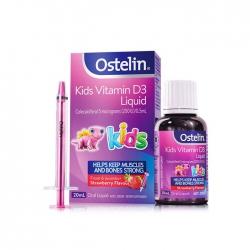 Ostelin Kids Vitamin D3  Liquid dùng cho bé từ 6 tháng tuổi