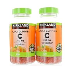 Kẹo dẻo Kirkland Adult Gummies Vitamin C 250mg, 2 Chai 360 viên