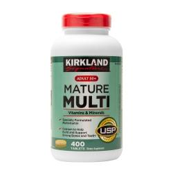Kirkland Adult 50+ Mature Multi Vitamins & Minerals dành cho người lớn trên 50+, Chai 400 viên