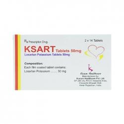 Thuốc tim mạch Ksart 25mg, Hộp 28 viên